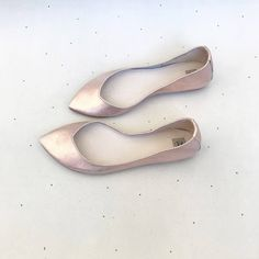 036dd46afaa5 Rose Gold Wedding Shoes. Rose Gold Bridal Shoes. Low Heel Shoes. Pointy  Ballet