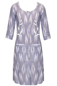Purple embroidered pocket detail shirt tunic by Rouka.       Shop now:  http://www.perniaspopupshop.com/designers/rouka   #shopnow #perniaspopupshop #rouka
