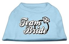 Mirage Pet Products 16-Inch Team Bride Screen Print Shirt for Pets, X-Large, Baby Blue