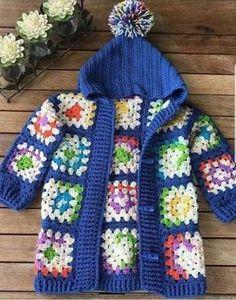 New Crochet Poncho Toddler Granny Squares 16 Ideas New Croch. New Crochet Poncho Toddler Granny Squares 16 Ideas New Crochet Poncho Toddler G Crochet Toddler, Crochet Girls, Crochet For Kids, Gilet Crochet, Crochet Cardigan Pattern, Knit Crochet, Free Crochet, Granny Square Poncho, Granny Square Crochet Pattern
