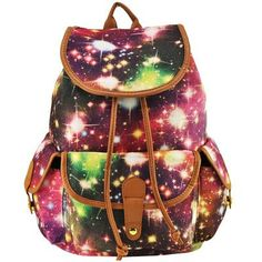 Stars In Universe Print Canvas Travel Backpack