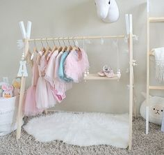 Baby Wardrobe storage - International Mini Childrens Clothing Rack Wooden Garment Frame Kid's Dress Up Clothes Baby Wardrobe Storage Wood Toddler Boutique. Clothes Hanger Storage, Kids Clothes Storage, Kids Clothing Rack, Wardrobe Storage, Kids Storage, Closet Clothing, Dress Up Storage, Hair Accessories Storage, Children Clothing