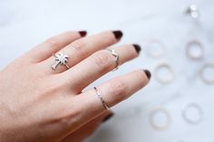 Current Obsession: Delicate Rings by ZOECA - Pixi mit Milch Delicate Rings, Pixie, Shop My, Silver Rings, Jewelry, Filigree Jewelry, Red Lipsticks, Couple Things, Nice Asses