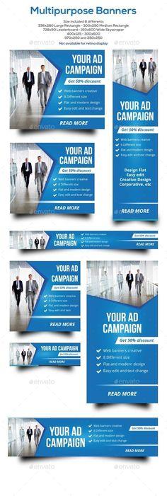Banners Multipurpose Template #design Download: http://graphicriver.net/item/banners-multipurpose/12412185?ref=ksioks