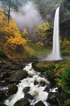 Amazing Waterfalls in USA -Elowah Waterfall- Hidden Gem in Columbia River- USA