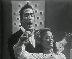 Con La Chunga en el programa francés Melody Variétés (1966)