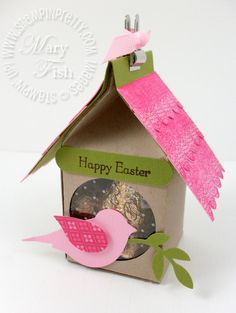 Stampin up milk carton birdhouse