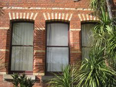 Window and Brick Detailing of the Former East Ballarat Free Library - Barkly Street, East Ballarat Brick Detail, Free Library, Brick And Stone, Arch, Surface, Windows, Photo And Video, Street, World
