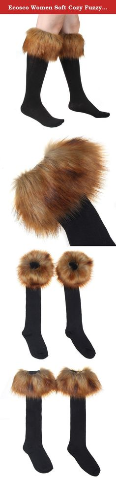 Ecosco Women Soft Cozy Fuzzy RED FOX Faux Fur Leg Warmers Sock Boot Cover. • Fashion, stylish, versatile, soft, stretch, and comfy • Material: Faux Fur There may be some fallen hairs attached during production, you may tap it slightly to remove the hairs • Size: Total Length: 28cm = about 11 inches. • Dry clean only. Do not wash,bleach or iron. Easily scrunched into boots • One pair per pack.