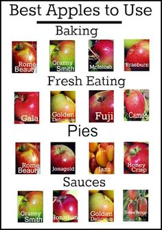 How to Pick the Right Apple!  Handy Dandy Chart!