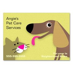 animal pet care business card templates on pinterest pet care pet