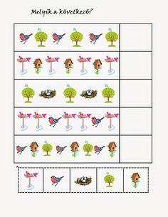 birds pattern for kıds Free Preschool, Preschool Worksheets, Preschool Learning, Educational Activities, Activities For Kids, Hidden Picture Puzzles, Pattern Worksheet, Cicely Mary Barker, Hidden Pictures
