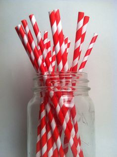 colorful paper straws for lemonade