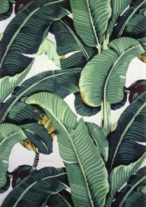 Martinique - Banana Leaf Wallpaper and Fabrics - Beverly Hills Wallpaper Fabrics Designer