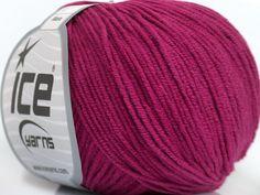 Fiber Content 50% Acrylic 50% Cotton Brand Ice Yarns Dark Fuchsia fnt2-43069