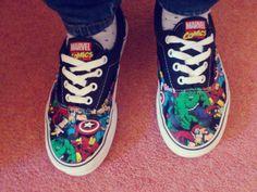 Superhero & Marvel Vans = Perfect <3