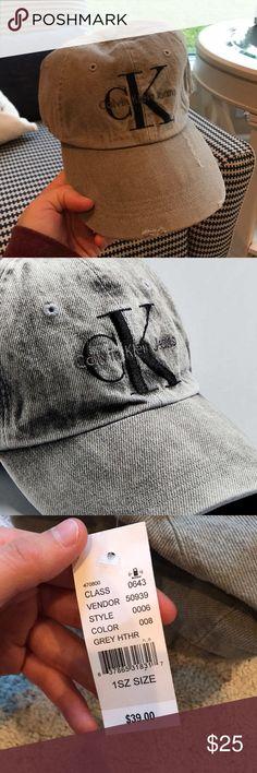 Grey Calvin Klein hat Medium grey colored Calvin Klein hat. Purchased at pacsun. NWT Calvin Klein Accessories Hats