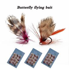Fly Fishing Lure Artificial Insect Bait Dry/Wet Flies Fishing Hooks Tackle with Case Box Butterfly Flying Bait Pesca - Fishing Gear Shop Fly Fishing Lures, Fishing Tackle, Hook And Tackle, Gear Shop, Fish Hook, Bait, Hooks, Insects, Butterfly