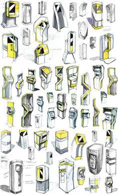 banking publicity Concepts for an interactive retail kiosk. Pos Design, Signage Design, Stand Design, Sketch Design, Graphic Design, Pop Display, Display Design, Booth Design, Digital Kiosk