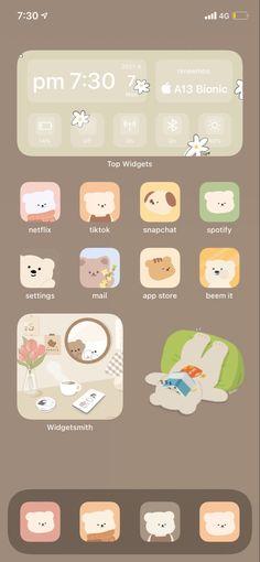 ios 14 cute bear idea