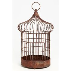 Import Collection Decorative Birdcage ($58) ❤ liked on Polyvore featuring home, home decor, birdcage, red, metal home decor, red home decor, red home accessories, bird cage home decor and metal birdcage