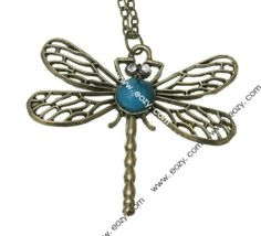 74cm Sweater Chain Necklace Jewelry Dragonfly Shape Coppery