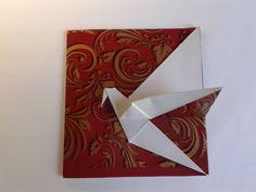 "The Origami Crane Card открытка журавлик - Cute ""Thank you"" notes Diy Origami, Origami Cards, Origami Paper Folding, Origami Envelope, Origami Wedding, Origami And Kirigami, Origami Fish, Origami Instructions, Origami Tutorial"