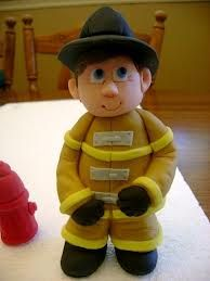 great colours. fireman fondant - Google Search