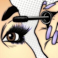 Natural Looking Eyelash Extensions Makeup Art, Eye Makeup, Mascara Tutorial, Makeup Illustration, Lashes Logo, Pop Art Girl, Beauty Art, Eyelash Extensions, Mary Kay