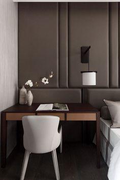 Modern Desk - Bedside Table - Upholstered Wall - Bedroom Furniture - Home Ideas