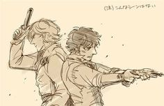 grantaire and enjolras image