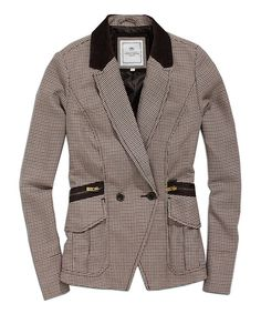 Take a look at this Coffee Zipper Blazer on zulily today!