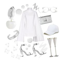 """""""White"""" by francesca-croci on Polyvore featuring Carrs, Urban Decay, Tom Ford, Jacquemus, Love Moschino, STELLA McCARTNEY, Sole Society, Umbra, Topshop and NYX"""