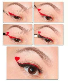 Red Queen makeup ideas.