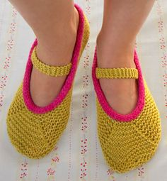 Whit's Knits: Mary Jane Slippers - Knitting Crochet Sewing Crafts Patterns and Ideas! - the purl bee