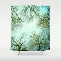 The sky  Shower Curtain by Guido Montañés - $68.00