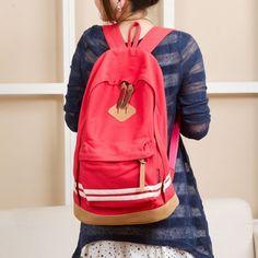Tara Sergy striped school bag women canvas school backpack casual school bag for girls canvas backpack school