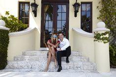 Supermodel Elle Macpherson unwinds during a break from shooting Vogue Russia with Villazzo's CEO Christian Jagodzinski #Miami #luxury #villa