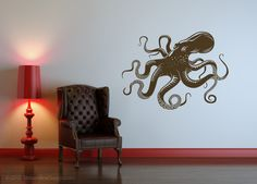 Yet Another Giant Octopus Removable Vinyl Wall Art. $32.95, via Etsy.