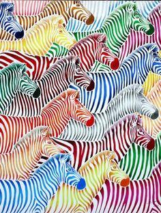 "Saatchi Online Artist Poggetti Christian; Painting, ""zebra 11004"" #art"