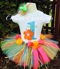 Hey, I found this really awesome Etsy listing at https://www.etsy.com/listing/191117221/hawaiian-luau-baby-girl-1st-birthday