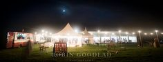 Marquee by night. Festoon lighting - perfect