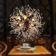 Modern Dandelion LED Chandelier Acrylic Fireworks Pendant Lamp Ceiling Lighting #Unbranded #Modern