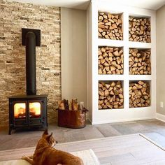Best Wood Storage Living Room Log Burner 46 Ideas Source by Log Store Indoor, Indoor Log Storage, Log Burner Living Room, Wood Burner Fireplace, Snug Room, Wood Store, Southern Living Homes, Living Room Storage, Living Rooms