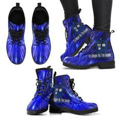 Womens Doctor Who Tardis Leather Boots Cool Stuff Its Bigger On The Inside
