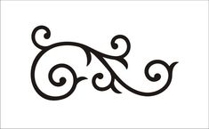 Scroll Stencil Flourish  2.8 Tall x 5.5 Wide by SuperiorStencils, $3.75