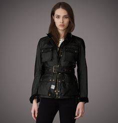 Jacket   Womens Signature Waxed Cotton Roadmaster Jacket   Belstaff