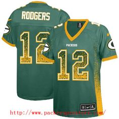 6fe61714a Nike NFL 12 Green Bay Packers Aaron Rodgers Green Drift Fashion Elite  Women's Jersey Eddie Lacy