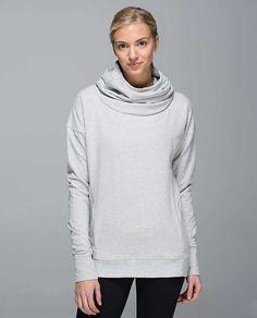 Lululemon Stress Less Hoodie Heathered Light Grey/Silver Spoon Size 8 $98