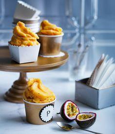 Passionfruit-mint sorbetto recipe - Gourmet Traveller